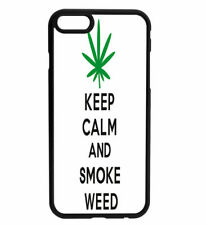 KEEP CALM and Smoke Weed Rubber Hard Back Case for iPhone Samsung D6