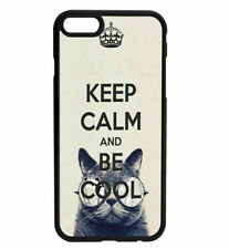KEEP CALM and Bee Cool Rubber Hard Back Case for iPhone Samsung D14