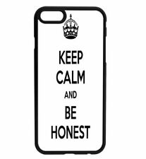 KEEP CALM and Be Honest Rubber Hard Back Case for iPhone Samsung D15