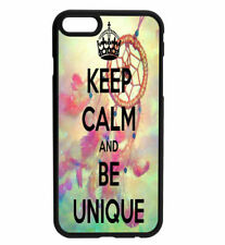 KEEP CALM and Be Unique Rubber Hard Back Case for iPhone Samsung D16