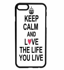 KEEP CALM and LOVE life Rubber Hard Back Case for iPhone Samsung D24