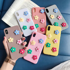 3D Cute Flower Pattern Rubber Soft Case Cover For iPhone XS Max XR X 8 6s 7 Plus