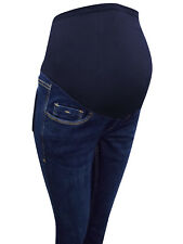Women Maternity Jeans Gap OLD NAVY Over Bump Bootcut Blue UK Size 2 6 8