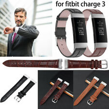 Leather Replacement Bracelet Strap Watch Wristband Band For Fitbit Charge 3