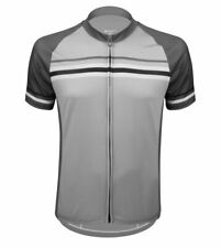 Aero Tech Men's Peloton Jersey - Clincher - Gray Striped Cycling Jersey USA Made