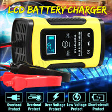 12V 6A LCD Pulse Repair Charger For Car Motorcycle AGM GEL WET Lead Acid Battery