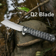 D2 Tactical Hunting Folding Knife Survival Outdoor EDC Camping Tools Portable