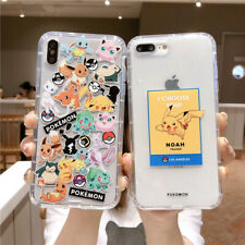 For IPhone 11 Pro Max XS 7 8+ Japan Cute Fashion Pikachu Pokemon Clear soft Case