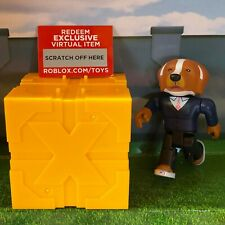 "Roblox WHITE COLLAR DOG Series 5 Yellow Gold Blind Box 3"" Kids Toys+Online Codes"
