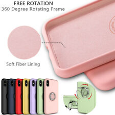 Ultra thin Magnetic Bracket Liquid Silicone Simple Color Soft Phone Case Cover