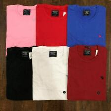 Abercrombie & Fitch Men's Short Sleeve Crew Neck Icon Tee Logo T-Shirt A&F