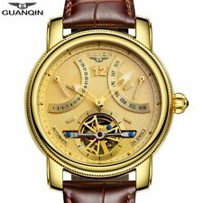 GUANQIN New Luxury Automatic Tourbillon Sapphire Crystal Calendar Men's Watch