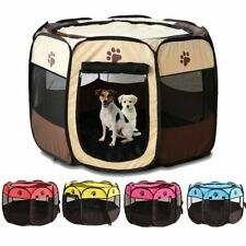 Pet Playpen Dog Crate Room Puppy Exercise Kennel Cat Cage Removable Mesh Cover