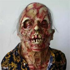 Halloween Zombie Masks Cosplay Bloody Disgusting Rot Face Scary Horror Party