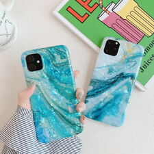 For Apple iPhone 11 Pro XS XR 7 8 6 Slim Marble Patterned Soft Rubber Case Cover