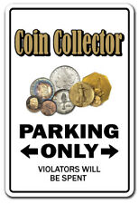 COIN COLLECTOR novelty sticker parking old coins gift numismatist gift funny mon