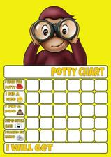CURIOUS GEORGE POTTY/TOILET TRAINING REWARD CHART free stars & pen