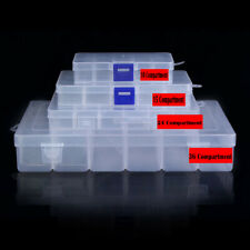 Multiple Compartment Clear Plastic Storage Box Jewelry Screw Organizer Container