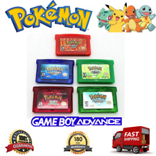 Pokemon: GBA Games: Emerald Ruby Sapphire Fire Red Leaf Green USA REPRO: SAVES