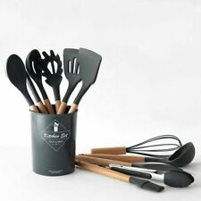 Silicone Wooden Set (37) Options, Kitchen Cooking Spatula Spoons Set, Non-stick