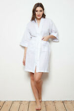 Cottonreal /'Adora/' Ladies White Cotton Short Nightdress with Daisy Embroidery