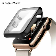 Protective Case+Tempered Film Glass Screen Protector For Apple iWatch 5 4 3 2 1