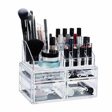 Cosmetic Organiser with 4 Drawers, Acrylic Makeup Kit, Lipstick Holder, Large