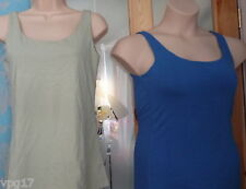 KENNETH COLE REACTION TANK TOPS  1 BLUE &  1 GREEN UK 10 SMALL NIP