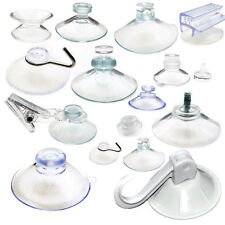 10 x Suction Cups - Any Type - Clear Plastic/Rubber Window Suckers (Pack of 10)