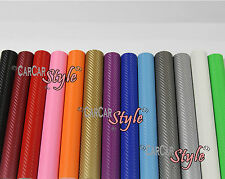 【3D AIR Free】300mm x 1520mm (11.8in x 59.8in)【Carbon Fibre Vinyl】Wrap Textured