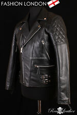 REBEL Black Men's Biker Motorcycle Motorbike Cruiser Cowhide Leather Jacket