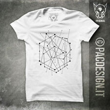 T-SHIRT POINT MAN NERD HIPSTER GRAFICO WHY SO HAPPINESS