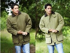 Mens Classic Derby Tweed Quilted Heavy Weight Field Country Wear Jacket, Coat,