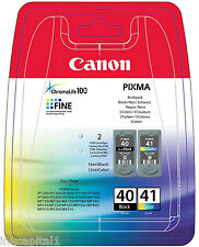 Canon PG-40 & CL-41 Black & Colour Original OEM PIXMA Inkjet Cartridges