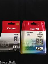 Canon 2 x PG-40 & 1 x CL-41 Black & Colour Original OEM PIXMA Inkjet Cartridges