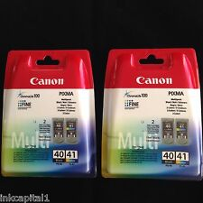 Canon 2 x PG-40 & 2 x CL-41 Black & Colour Original OEM PIXMA Inkjet Cartridges