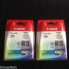 Canon 2 x PG-37 & 2 x CL-38 Black & Colour Original OEM PIXMA Inkjet Cartridges