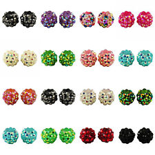 10-500 Shamballa Resin Rhinestone Disco Ball Beads 12mm - 18 Colours Available