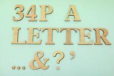 WOODEN LETTERS & NUMBERS 6cm tall 6mm thick Plus Other SIZES & Paper Mache etc