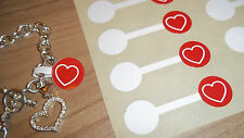Jewellery Valentines Heart Price Stickers Labels Tags Dumbells For Accessories