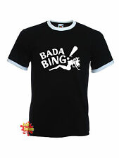 BADA BING Sopranos ringer T Shirt All Sizes
