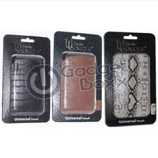 UUNIQUE LEATHER UNIVERSAL POUCH APPLE IPHONE 3GS 4/4S WAS £24.99 NOW £4.50