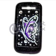 BLING RHINESTONE BUTTERFLY IN PURPLE HARD CASE COVER SAMSUNG GALAXY S3