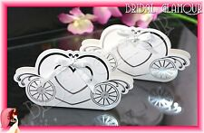 100pc-1000pc Fairytale Heart Carriage Cinderella Wedding Bomboniere Box Favour