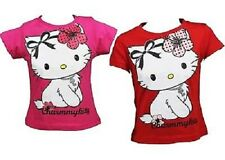 "T-Shirt Hello Kitty ""Charm My Kitty"" licensa ufficiale Sanrio - Rosso o Fucsia"