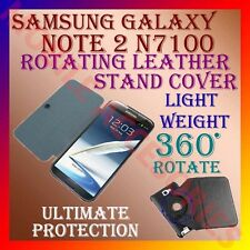 ACM-SAMSUNG GALAXY NOTE 2 II N7100 360° ROTATING BOOK LEATHER COVER CASE STAND