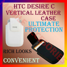 ACM-VERTICAL LEATHER CARRY CASE POUCH COVER for HTC DESIRE C MOBILE PROTECT NEW