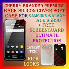ACM-CHERRY PREMIUM SILICON SOFT CASE for SAMSUNG ACE S5830 + SCREENGUARD COVER