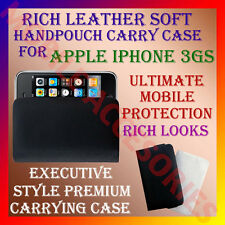 ACM-RICH LEATHER SOFT CARRY CASE for APPLE IPHONE 3GS 3 MOBILE HANDPOUCH COVER