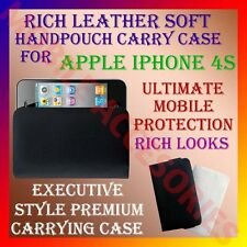 ACM-RICH LEATHER SOFT CARRY CASE for APPLE IPHONE 4S 4 MOBILE HANDPOUCH COVER